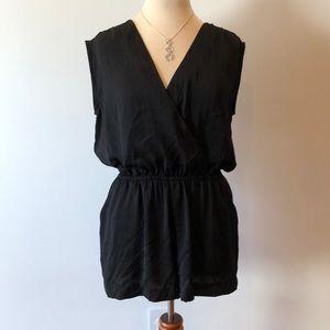 Black shorts jumpsuit